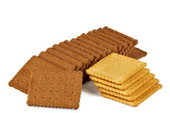 Cioccolato e biscotti bianchi del biscotto Fotografia Stock Libera da Diritti
