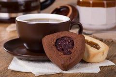 Cioccolato e biscotti di Vanella Hamantash Fotografie Stock Libere da Diritti