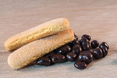 Cioccolato e bisquits Fotografia Stock Libera da Diritti