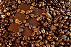 Cioccolato e caffè Fotografie Stock Libere da Diritti