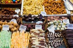 Cioccolato e caramelle Fotografia Stock