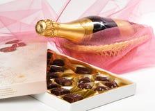 Cioccolato e champagne. Immagini Stock Libere da Diritti