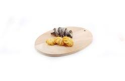 Cioccolato e croissant nero del sesamo Fotografia Stock
