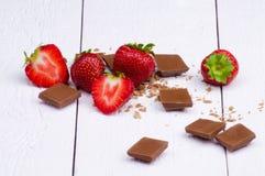 Cioccolato e fragola Immagini Stock Libere da Diritti