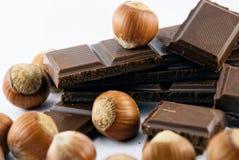 Cioccolato e nocciole Fotografia Stock Libera da Diritti