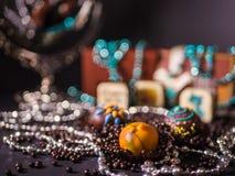 Cioccolato e palle casalinghi del cioccolato Fotografia Stock Libera da Diritti
