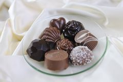 Cioccolato e pralina Fotografia Stock