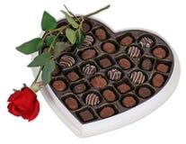 Cioccolato e Rosa Fotografia Stock Libera da Diritti
