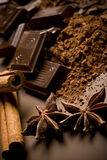 Cioccolato e spezie Immagine Stock Libera da Diritti