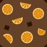 Cioccolato ed arancia Fotografia Stock Libera da Diritti
