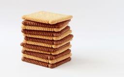 Cioccolato ed interi biscotti del grano Fotografie Stock Libere da Diritti