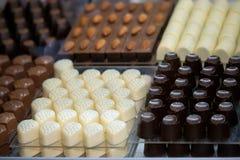 Cioccolato fatto a mano di varie forme Fotografie Stock