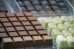 Cioccolato fatto a mano di varie forme Fotografia Stock Libera da Diritti