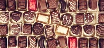 Cioccolato fine assortito Immagini Stock
