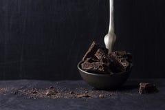 Cioccolato fondente aerato fotografia stock libera da diritti