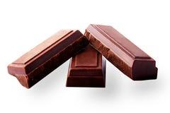 Cioccolato fondente della compressa Fotografia Stock Libera da Diritti