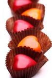 Cioccolato a forma di del cuore Immagine Stock