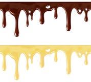 Cioccolato fuso Fotografie Stock