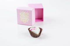 Cioccolato isolato del cuore Immagini Stock Libere da Diritti