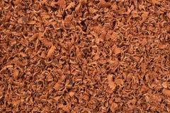Cioccolato manualmente raspato fotografia stock