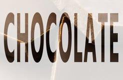 Cioccolato nel simbolo Fotografia Stock Libera da Diritti