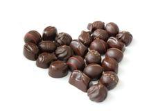Cioccolato nella forma del cuore Fotografia Stock Libera da Diritti