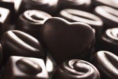 Cioccolato per il giorno di biglietti di S. Valentino Fotografia Stock Libera da Diritti