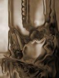 Cioccolato scuro scorrente illustrazione vettoriale