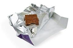Cioccolato in stagnola d'argento Immagine Stock