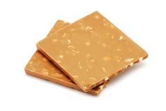 Cioccolato su bianco Fotografia Stock