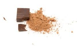 Cioccolato su priorità bassa bianca Immagine Stock Libera da Diritti