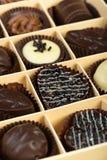 Cioccolato in un giorno di S. Valentino della scatola fotografia stock