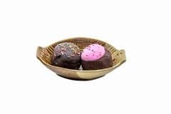 cioccolato zuccherato e palla fatta a mano del dolce Fotografie Stock