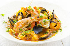 Cioppino with seafood Royalty Free Stock Image