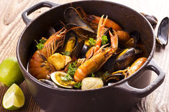 Cioppino Seafood Soup Stock Image