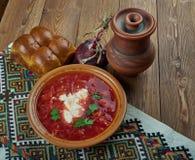 Ciorba de sfecla rosie. Romanian national dish, beetroot soup Royalty Free Stock Photography