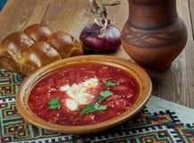 Ciorba de sfecla rosie. Romanian national dish, beetroot soup Royalty Free Stock Photos