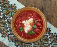Ciorba de sfecla rosie. Romanian national dish, beetroot soup Stock Photos