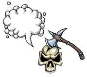 Cioska w skull-100 royalty ilustracja
