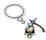 Cioska w skull-100 ilustracji
