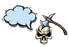 Cioska w skull-100 ilustracja wektor