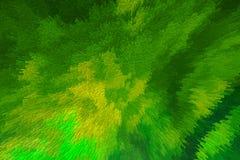 Ciosowy abstrakt zieleni koloru żółtego tło Zdjęcia Stock