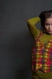 ciosowy dziewczyny waistcoat zdjęcia stock