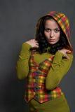 ciosowy dziewczyny waistcoat zdjęcie stock