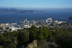 Ciotat city. France Royalty Free Stock Photos