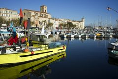 Ciotat harbour. France Royalty Free Stock Image