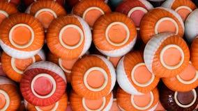 Ciotola arancio ceramica al magazzino Immagine Stock