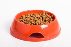Ciotola arancio del gatto Fotografia Stock Libera da Diritti