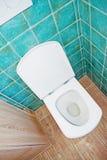 Ciotola bianca del wc Fotografia Stock