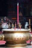 Ciotola cinese con incenso Fotografia Stock Libera da Diritti